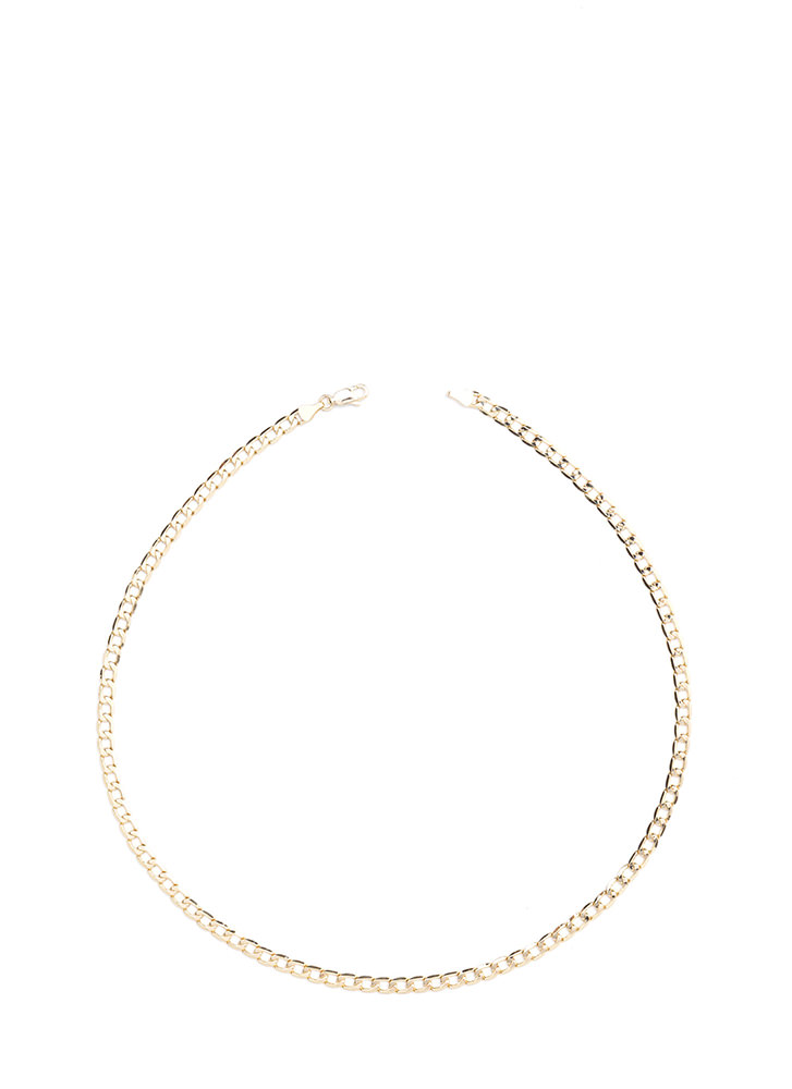 Yankin' Your Curb Chain Necklace GOLD