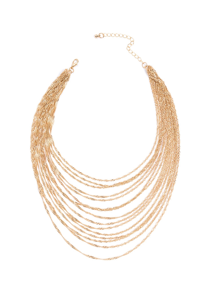 Chasing Waterfalls Chain Necklace GOLD