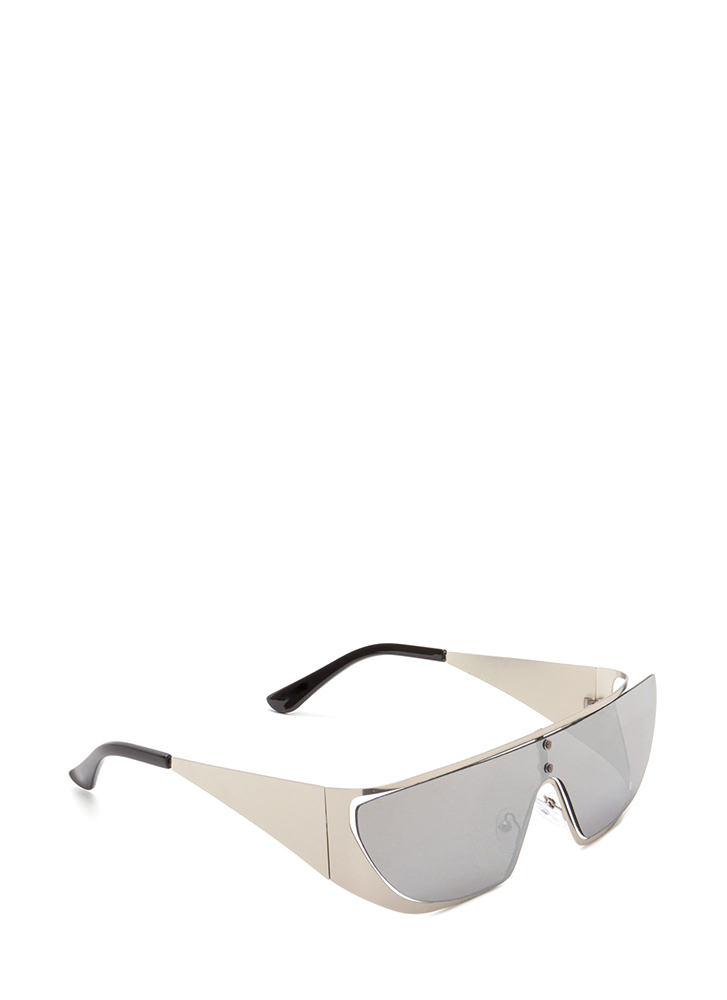 Throwback Model Flat-Top Sunglasses SILVER