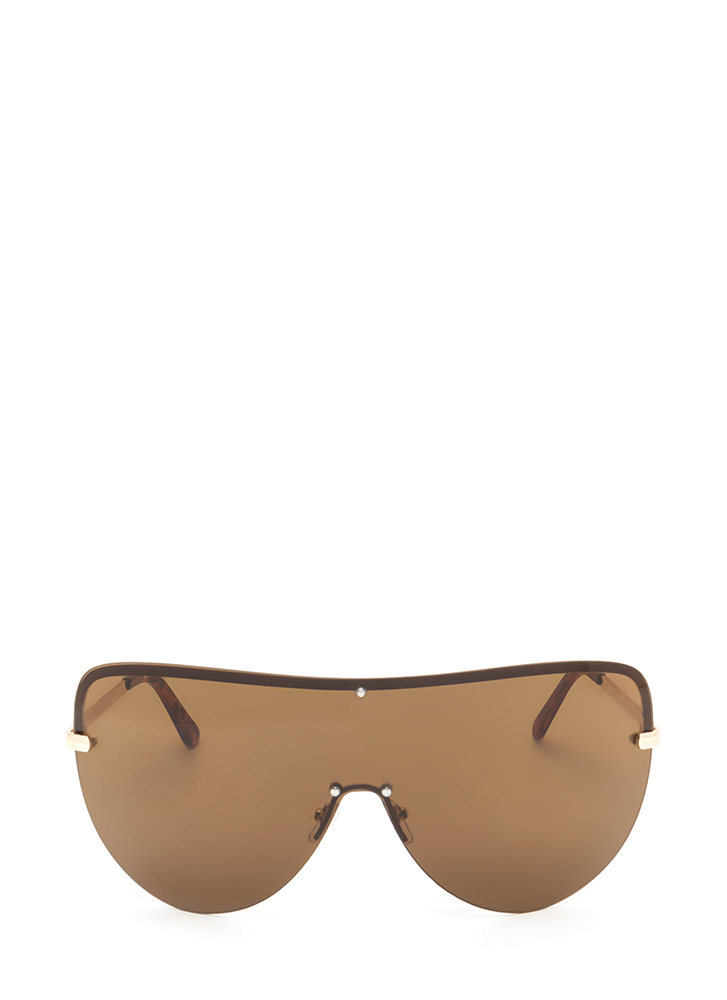 For The 'Gram Shield Sunglasses BROWN
