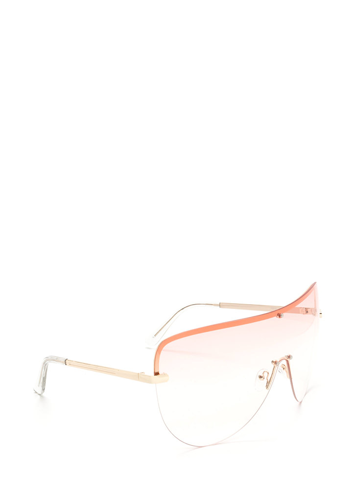 For The 'Gram Shield Sunglasses PINK