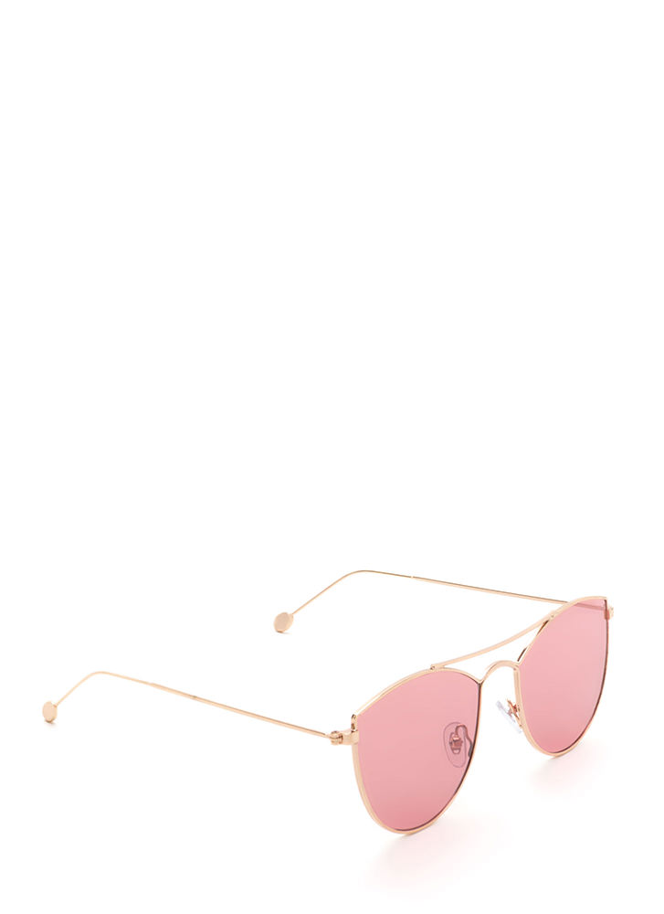 Fashion Fave Tinted Brow Bar Sunglasses RED