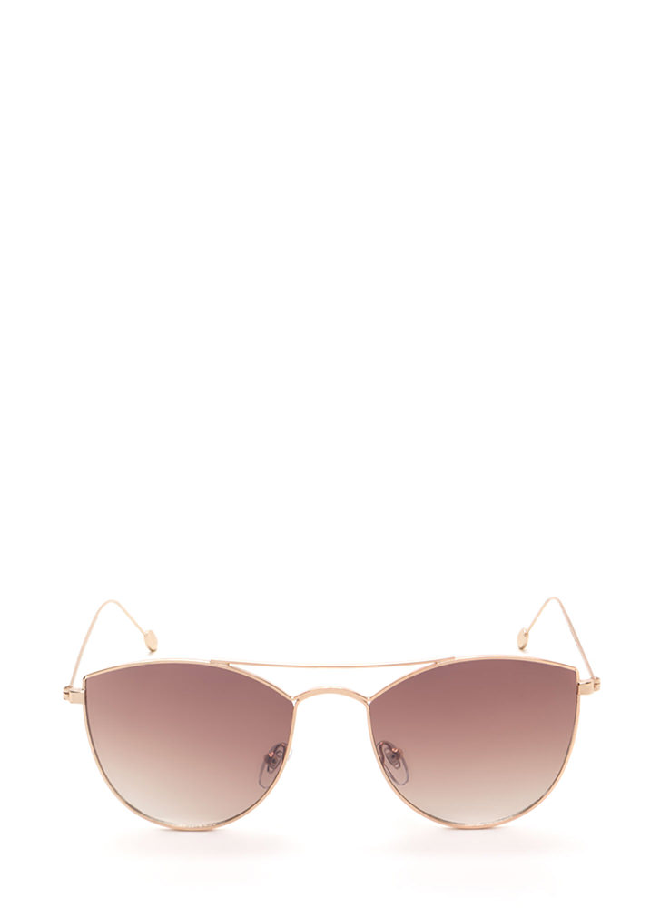 Fashion Fave Tinted Brow Bar Sunglasses TAUPE