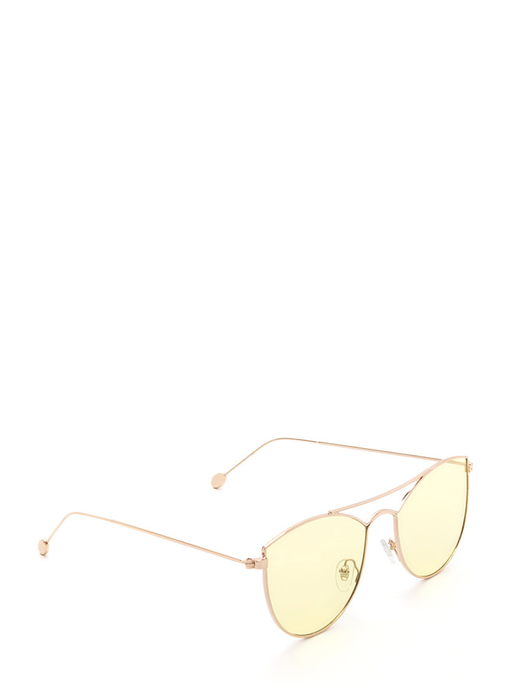 Fashion Fave Tinted Brow Bar Sunglasses YELLOW