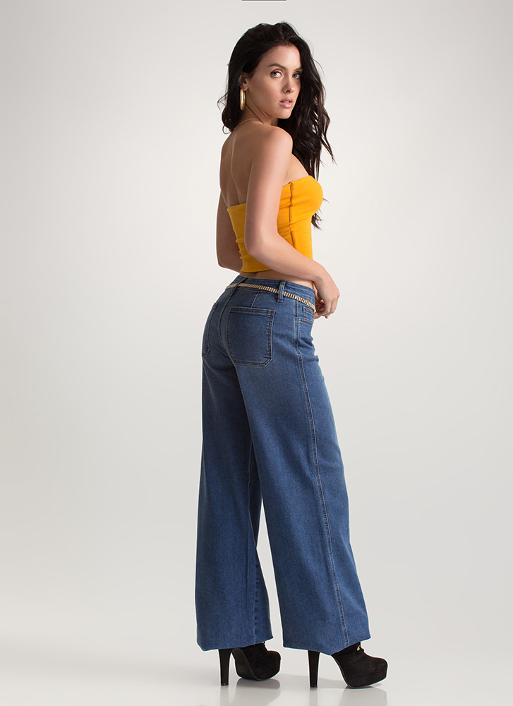 Wide Angle Oversized Denim Jeans BLUE