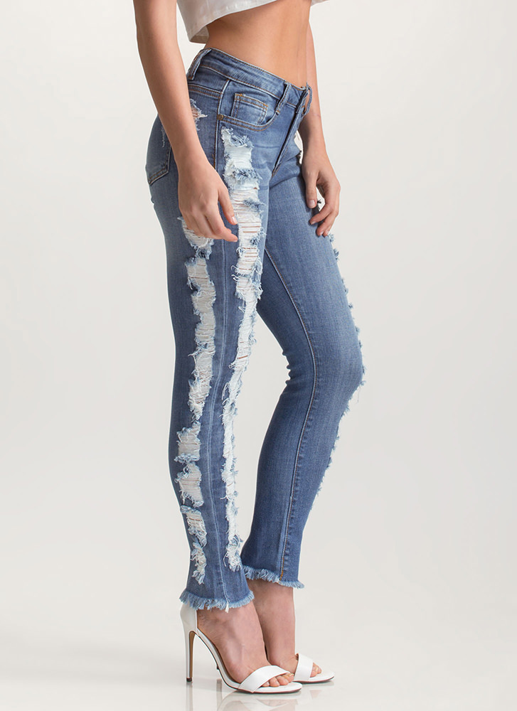 Shred-y To Go Washed Skinny Jeans BLUE