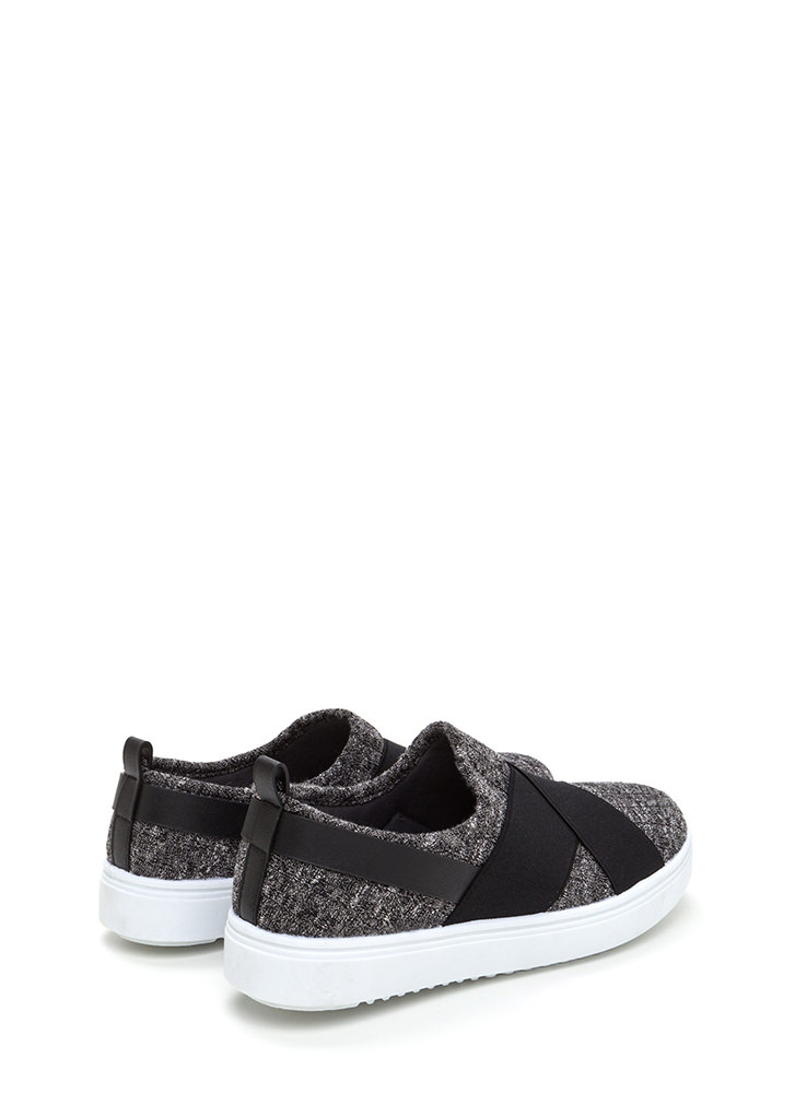 Crossover Act Banded Platform Sneakers GREY