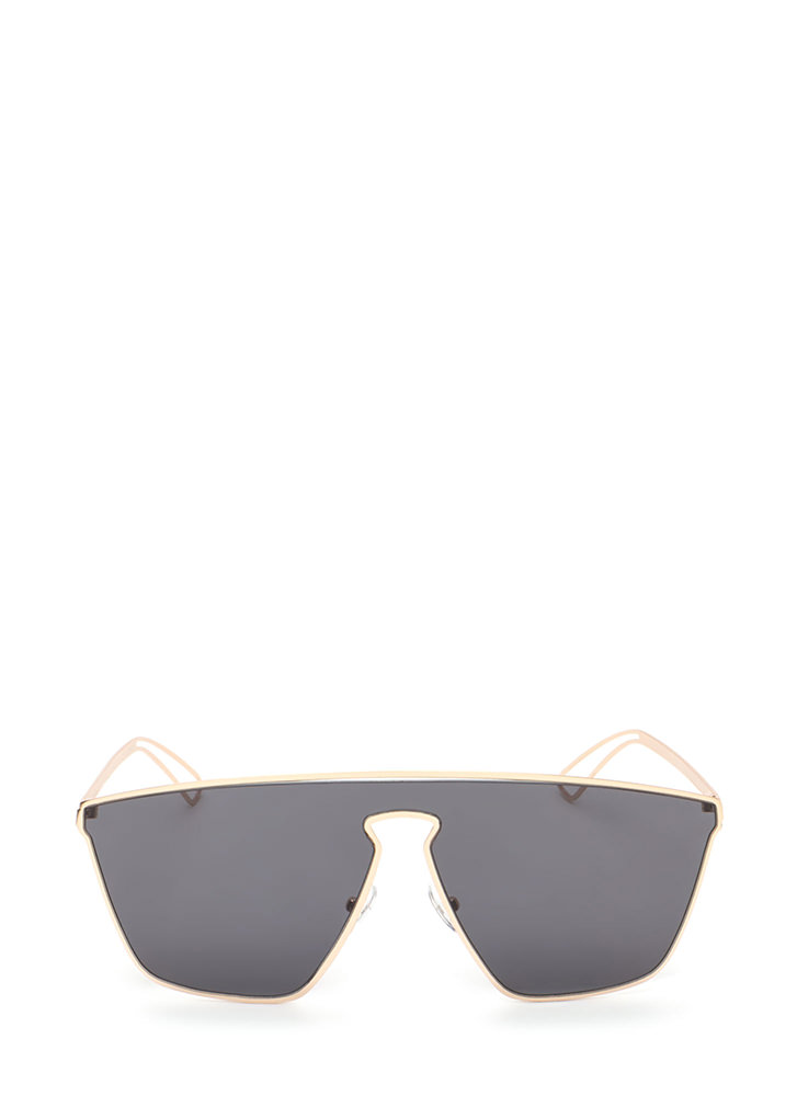 Key To Style Oversized Sunglasses BLACKGOLD