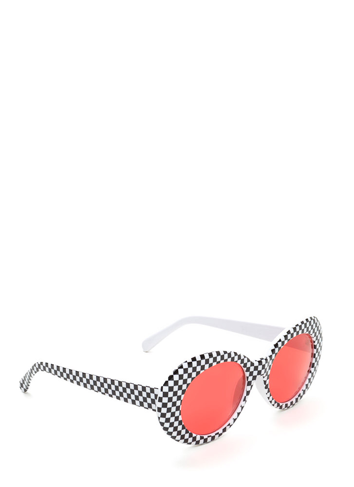 Check Mate Vintage Sunglasses RED