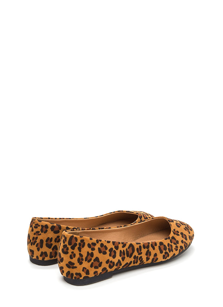 Step Into The Wild Leopard Ballet Flats LEOPARD