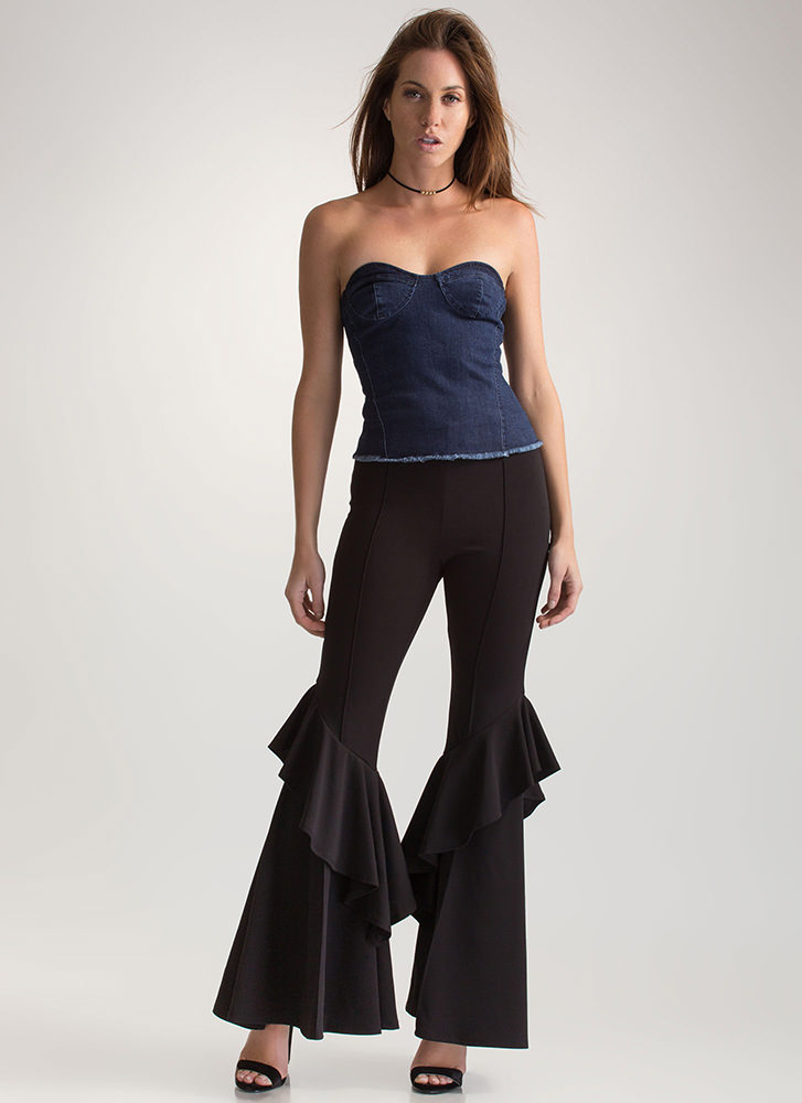 Dream Of Jean-ie Strapless Tube Top DKBLUE