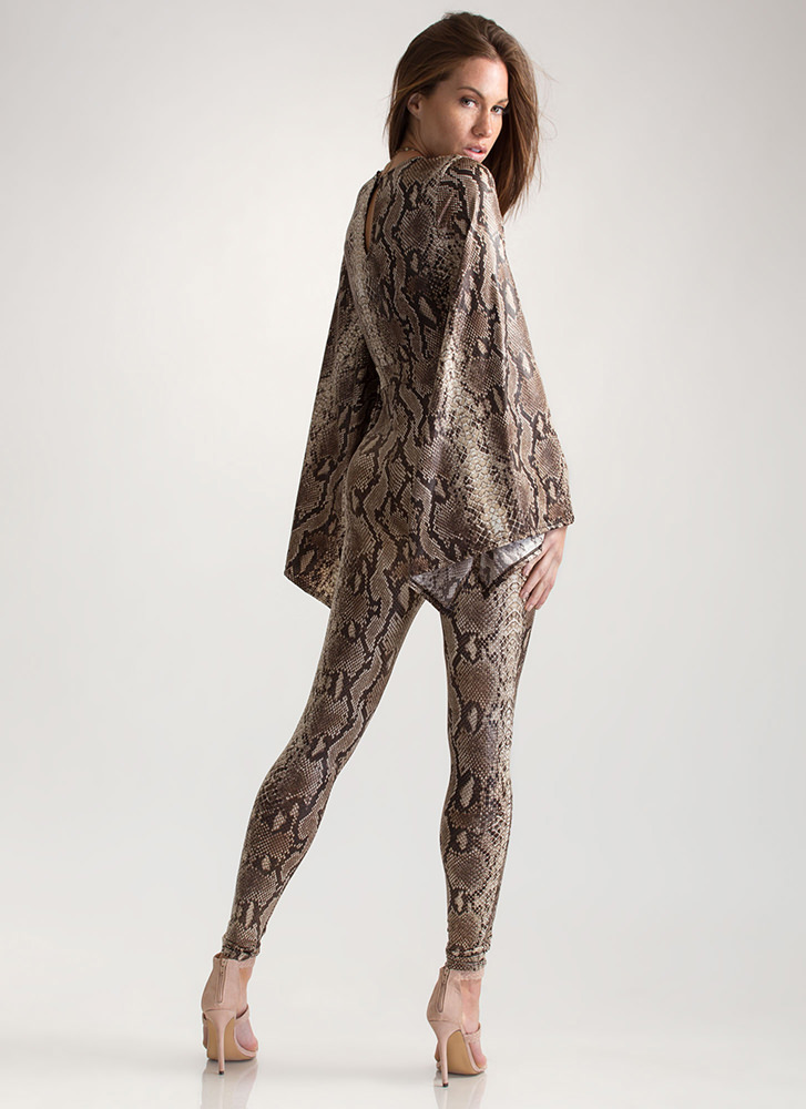 Change Your Spots Bell Sleeve Jumpsuit GREY