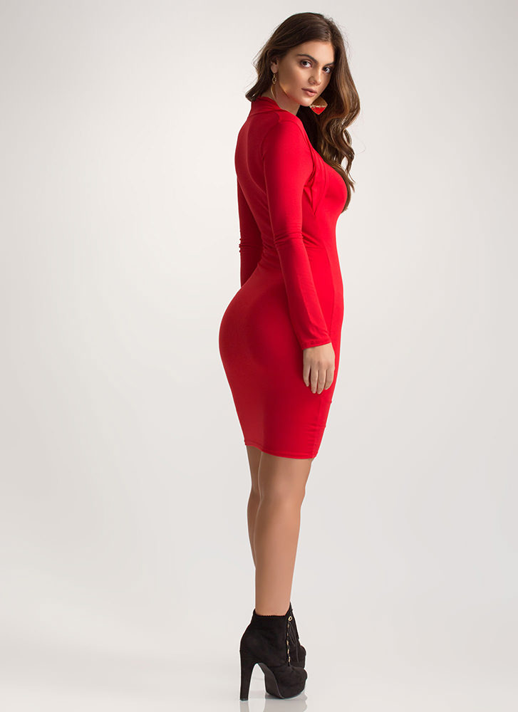 Curves On Curves Sweetheart Mini Dress RED