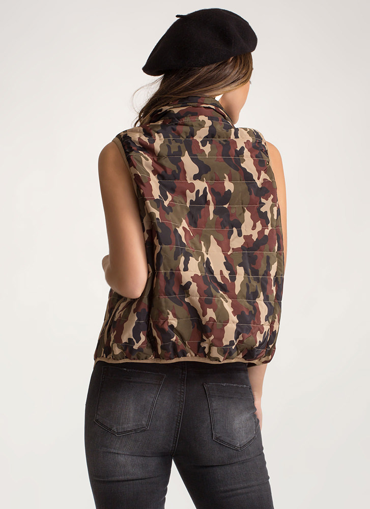 Camo Command Puffer Vest CAMOUFLAGE