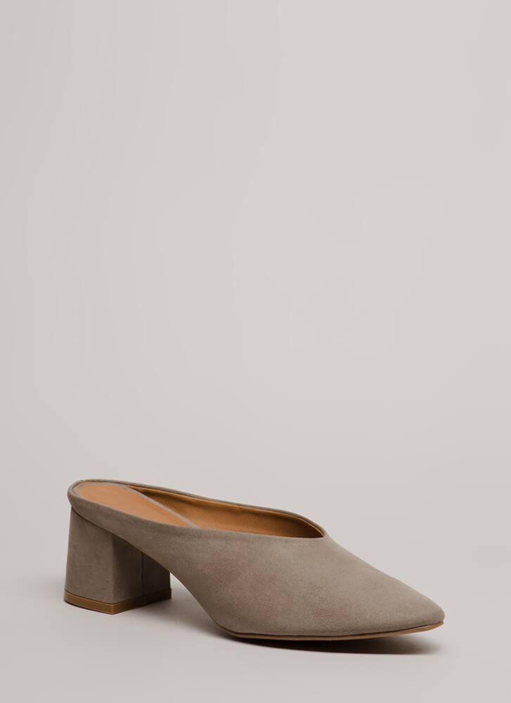Around The Block Chunky Mule Heels by Go Jane