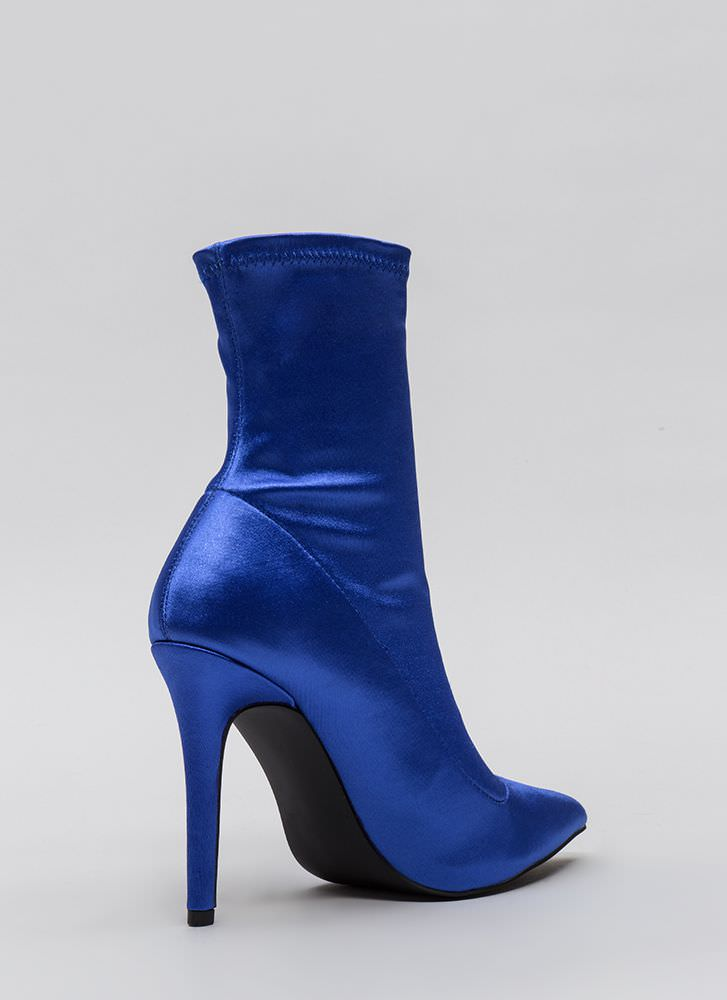 Stretch The Rules Pointy Lycra Booties BLUE