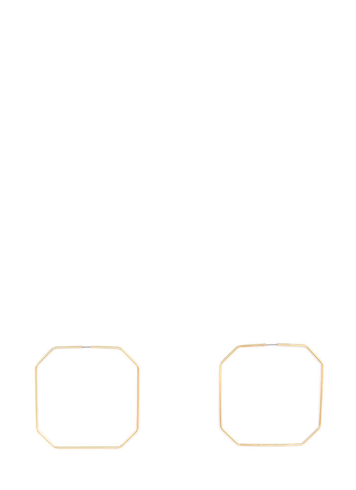 Geometry Class Cut-Out Octagon Earrings GOLD