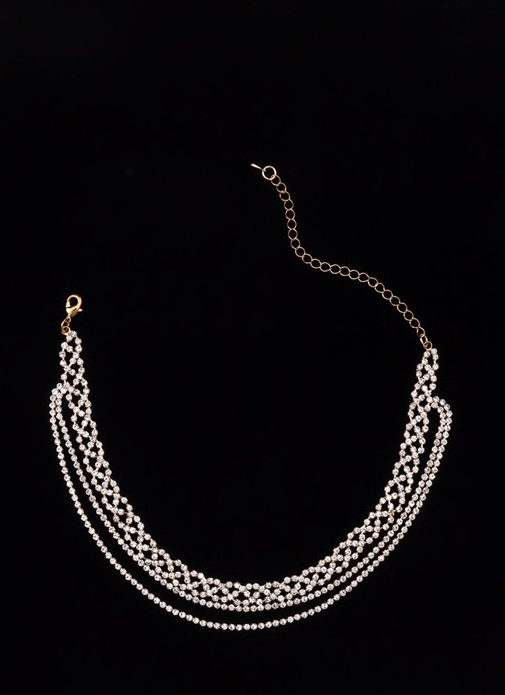 Sparkle 'N Shine Layered Necklace GOLD