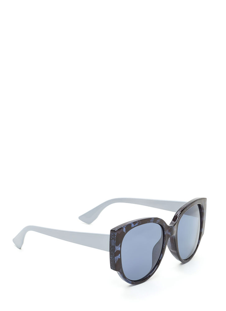 Retro Babe Rounded Sunglasses GREY