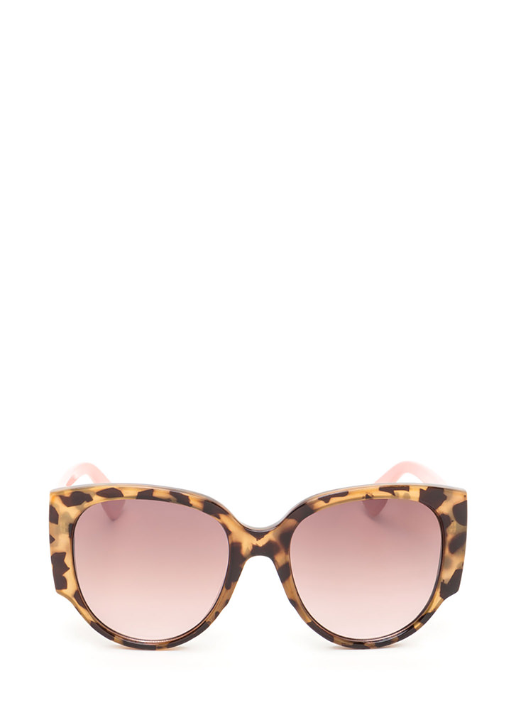 Retro Babe Rounded Sunglasses PINK
