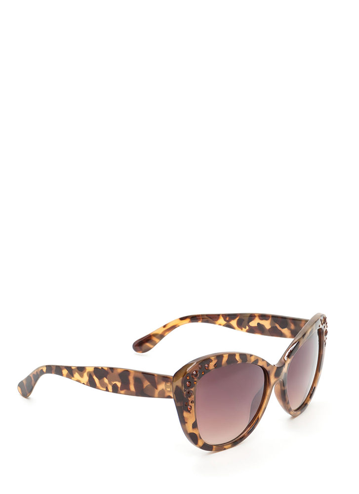 Girl's Best Friend Cat Eye Sunglasses BROWN (You Saved $5)
