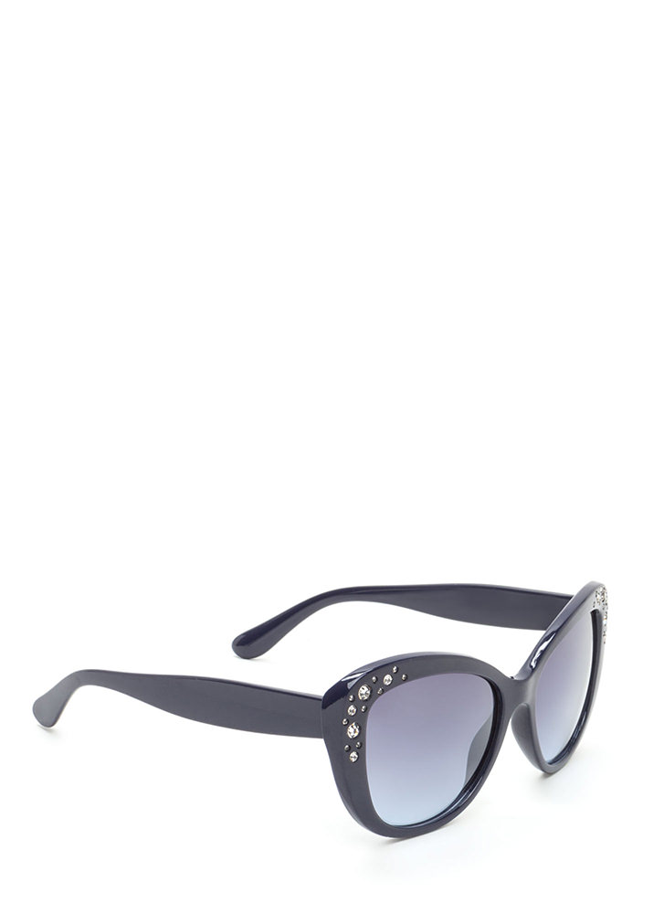 Girl's Best Friend Cat Eye Sunglasses NAVY (You Saved $5)