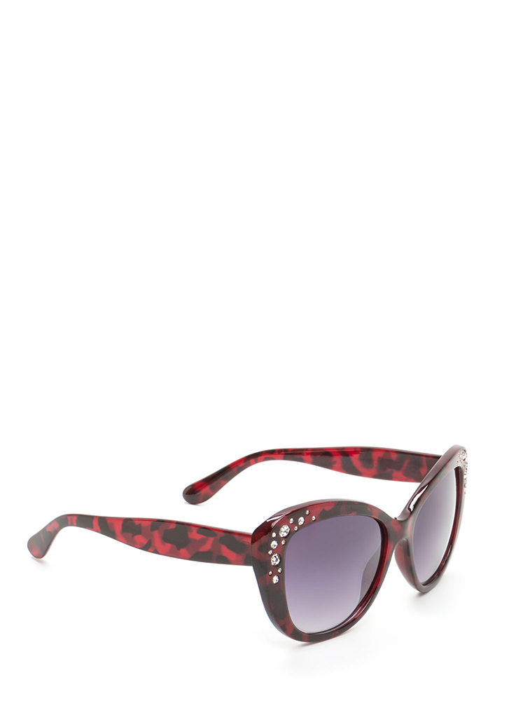 Girl's Best Friend Cat Eye Sunglasses RED (You Saved $5)