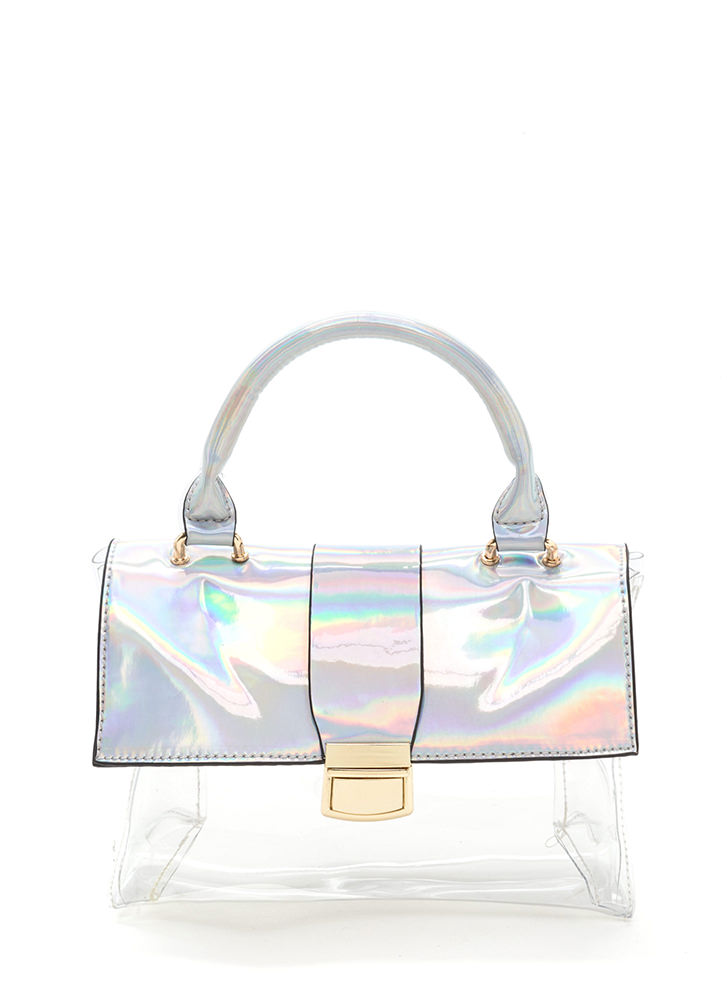 Clear Idea Shiny Holographic Bag SILVER
