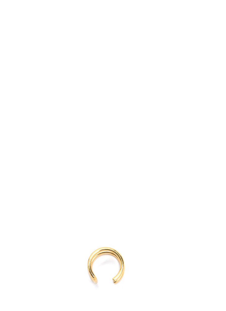 Chic Pout Faux Lip Ring GOLD