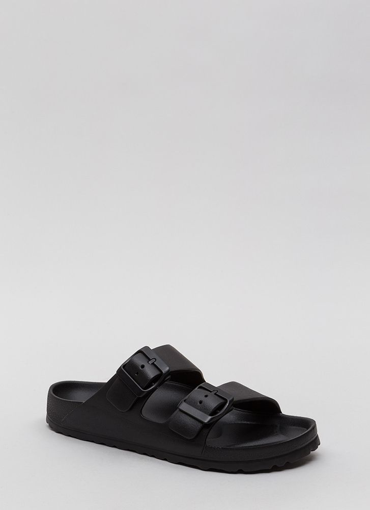 My Playground Jelly Slide Sandals BLACK