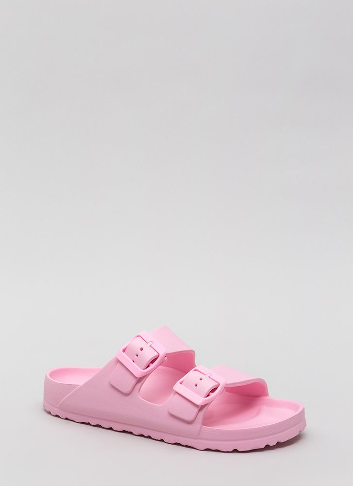 My Playground Jelly Slide Sandals DUSTYPINK