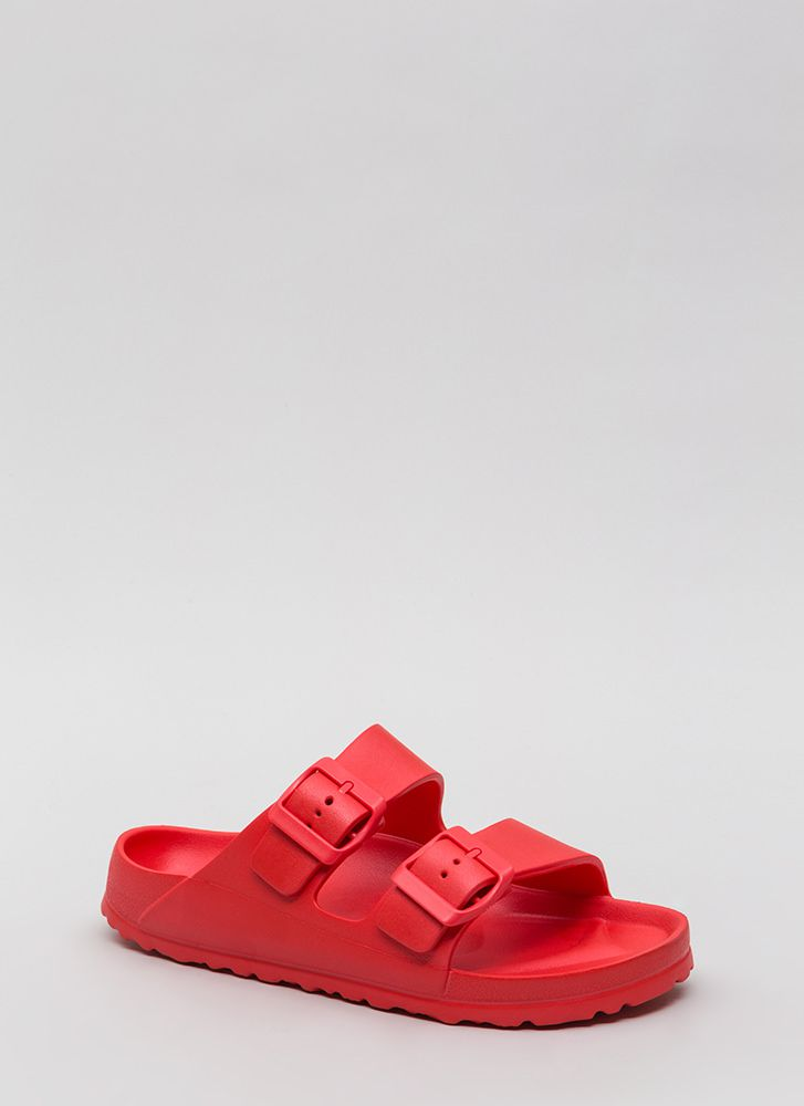 My Playground Jelly Slide Sandals RED