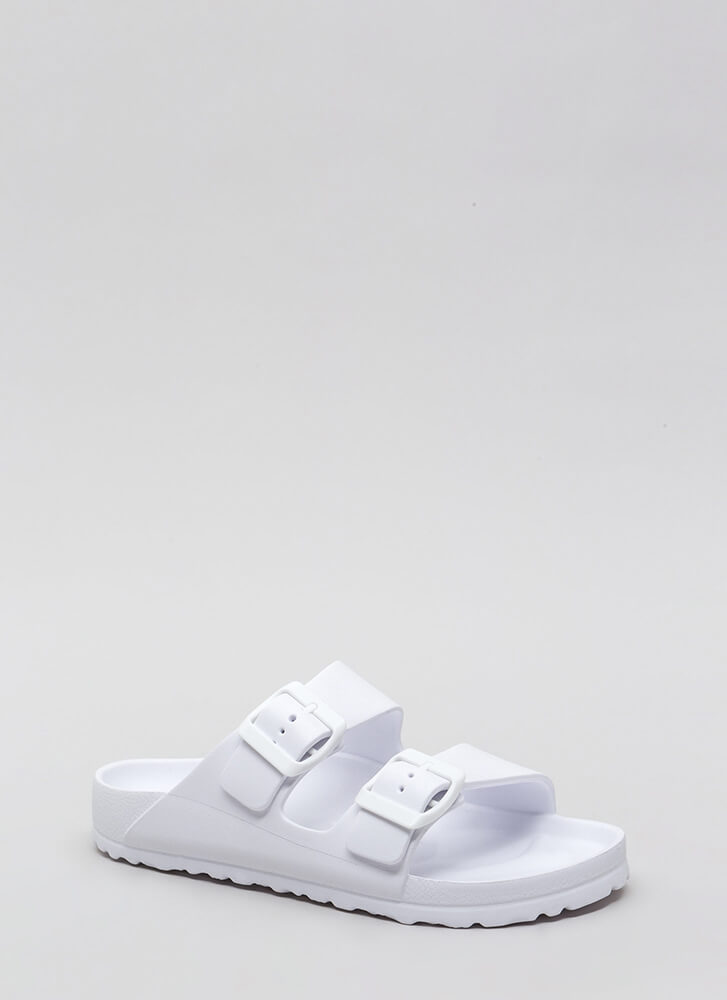 My Playground Jelly Slide Sandals WHITE