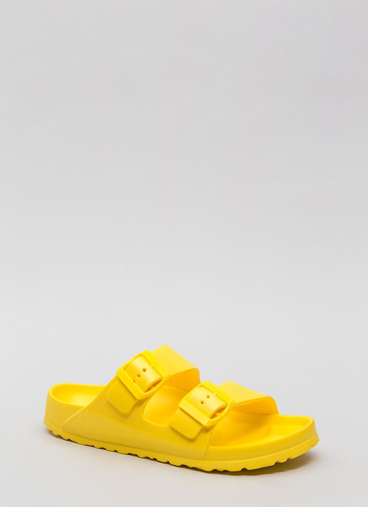 My Playground Jelly Slide Sandals YELLOW