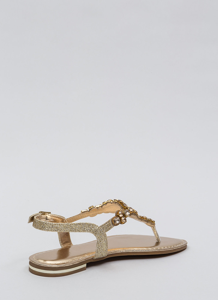 Bling Out The Best Jeweled Sandals GOLD