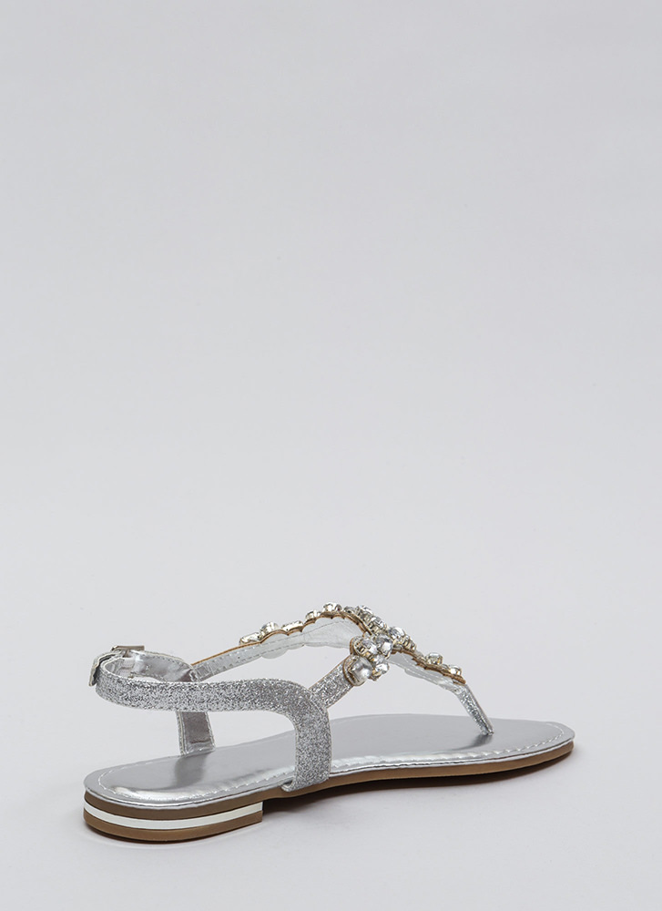Bling Out The Best Jeweled Sandals SILVER