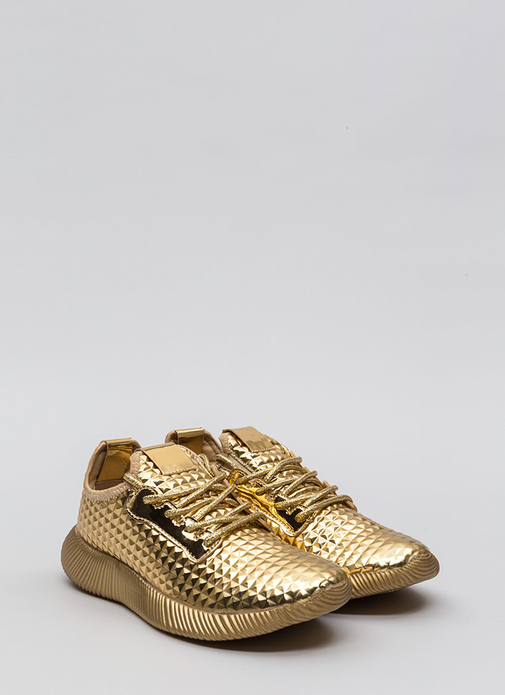 Another Dimension Metallic Sneakers GOLD
