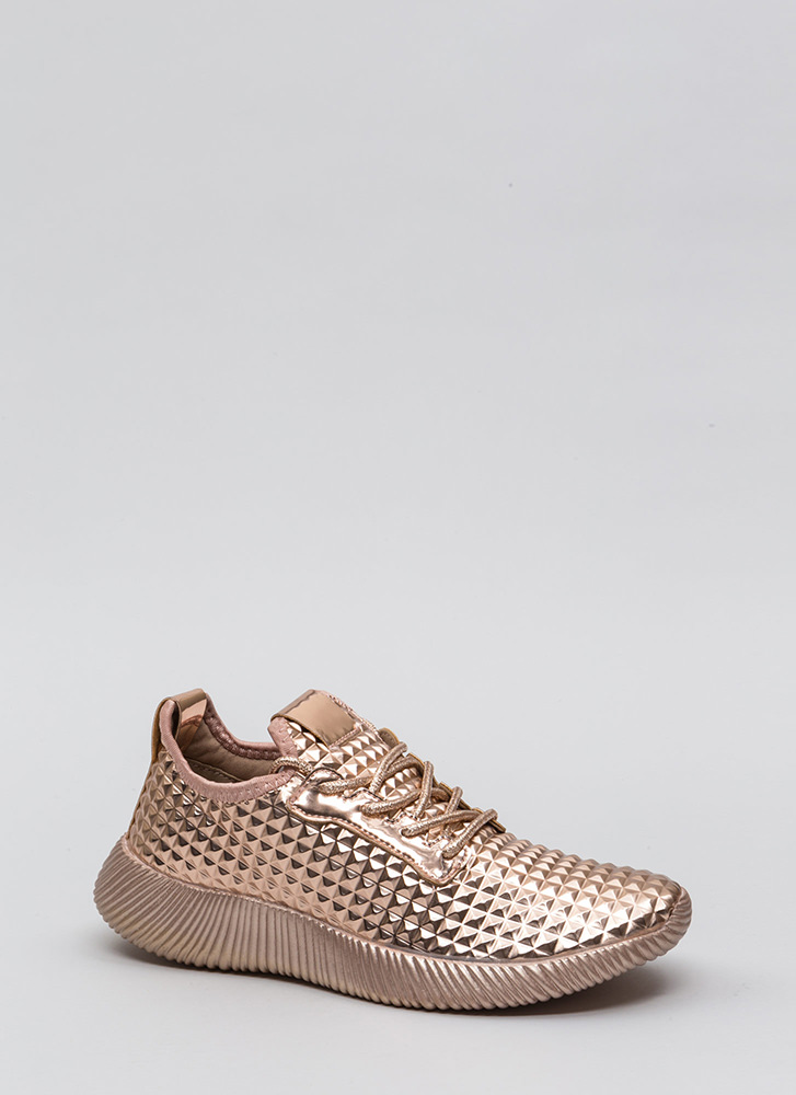 Another Dimension Metallic Sneakers ROSEGOLD