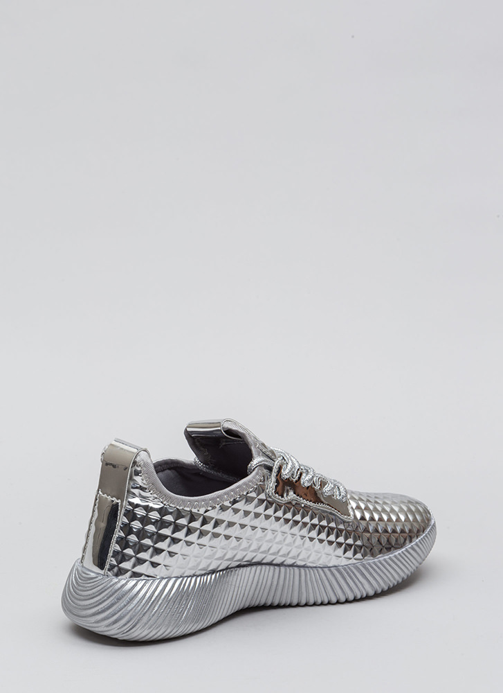 Another Dimension Metallic Sneakers SILVER