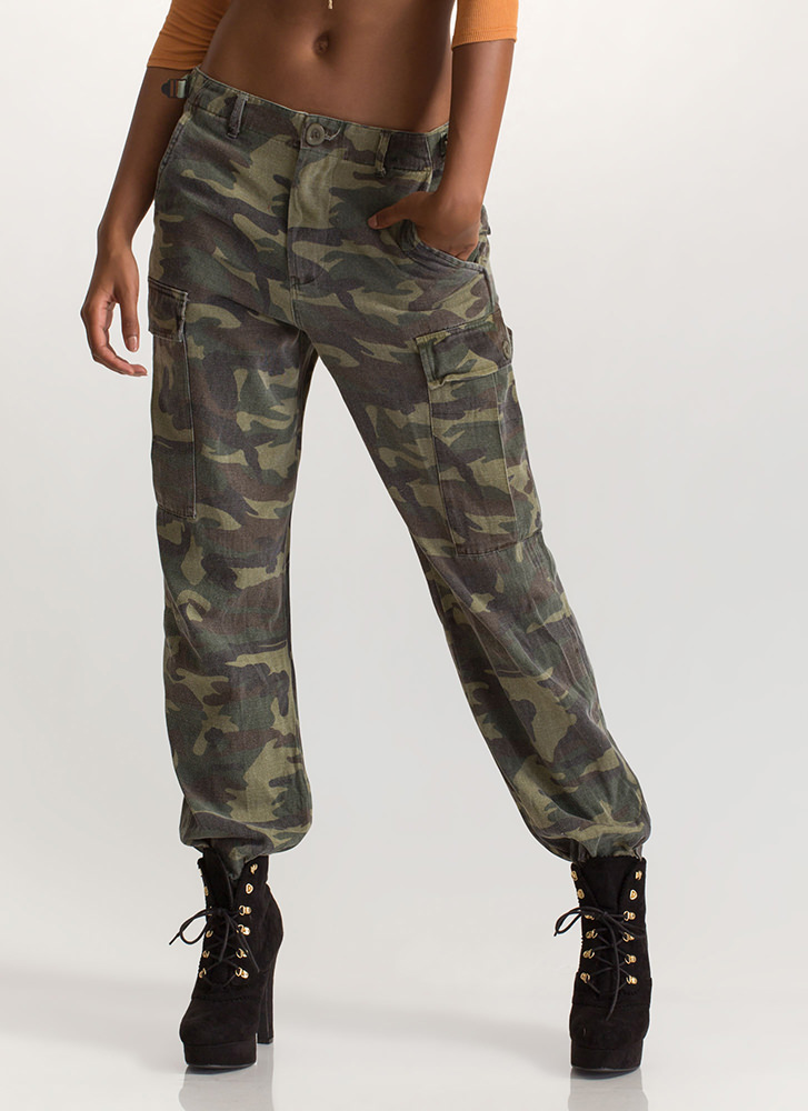 Target Practice Camo Cargo Jogger Pants CAMOUFLAGE
