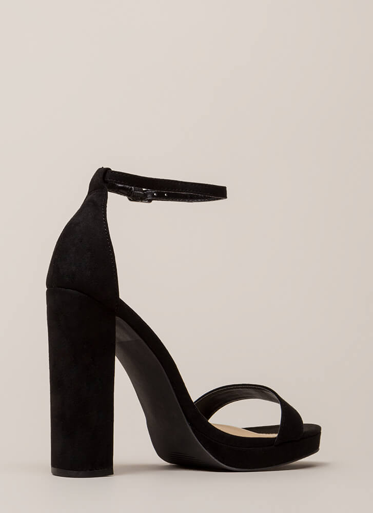 That's All It Takes Chunky Platforms BLACK
