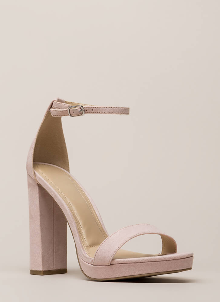 That's All It Takes Chunky Platforms LTBLUSH