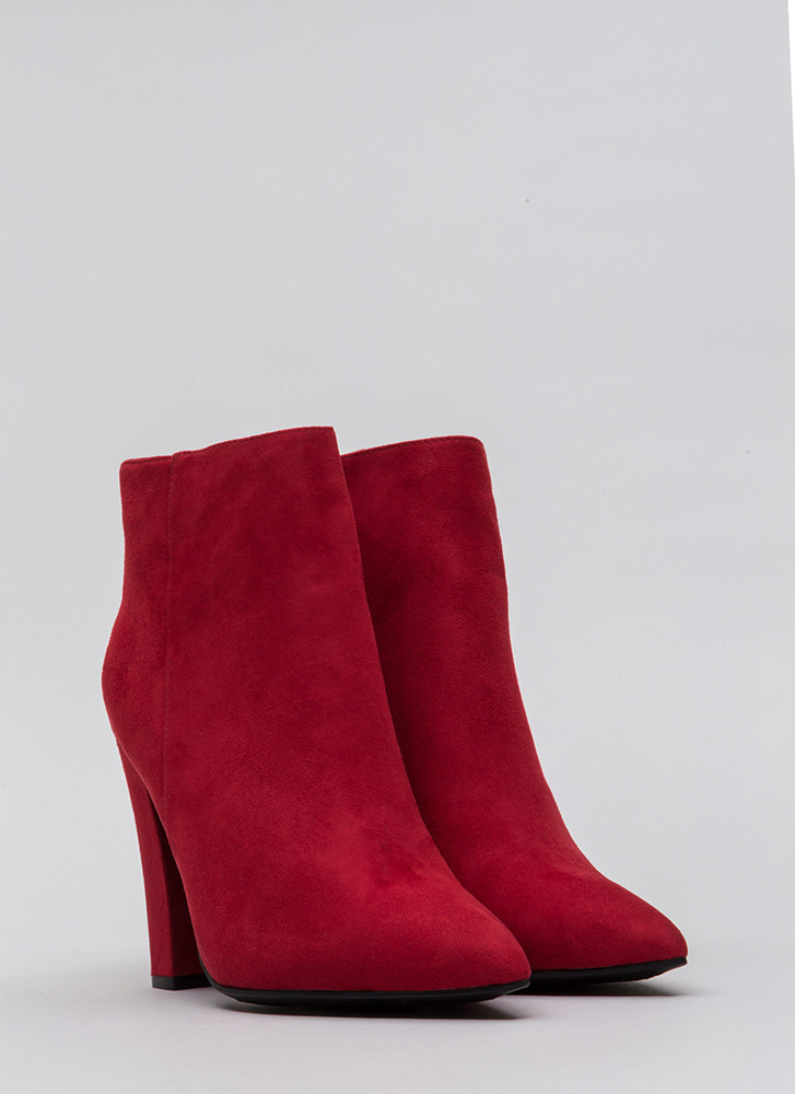 Walk Out Pointy Tassel Booties RED