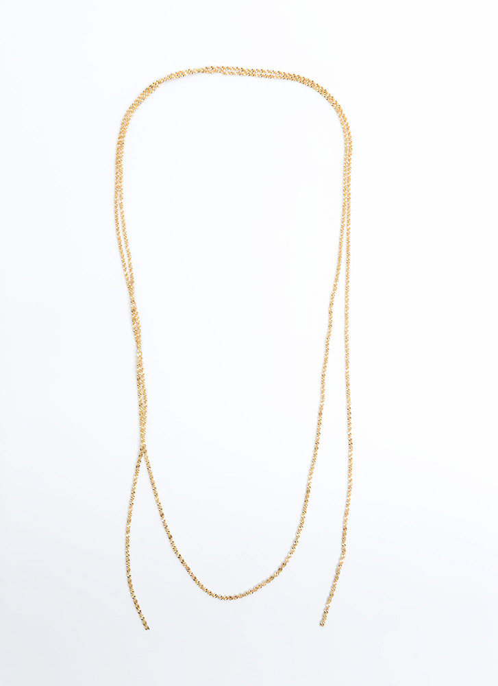 Any Way Rope Chain Wraparound Necklace GOLD