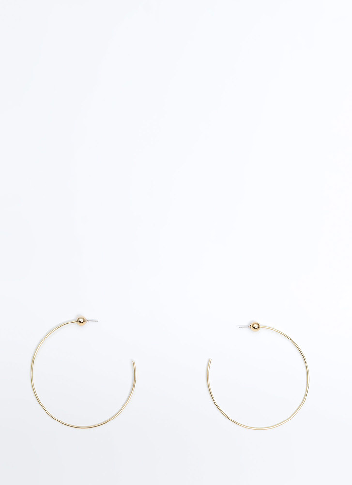 Let's C Oversized Partial Hoop Earrings GOLD