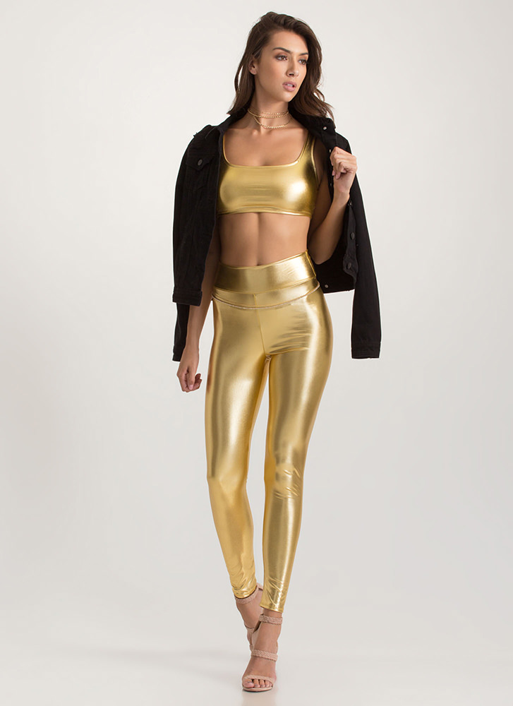 Style Superhero Two-Piece Jumpsuit GOLD