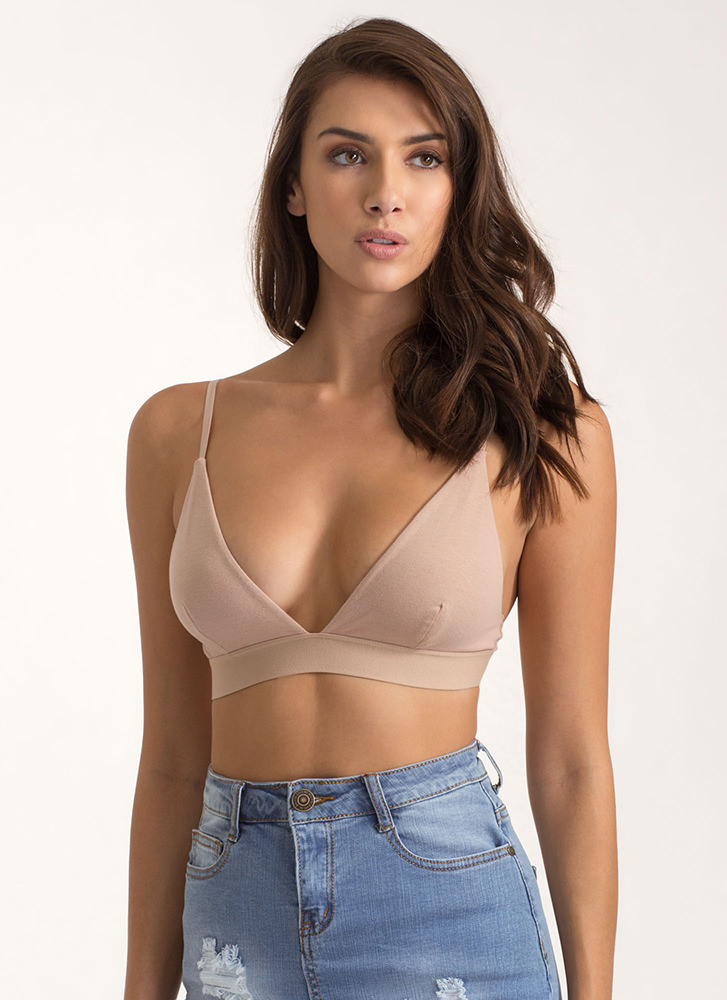 Underneath It All Triangle Bralette NUDE
