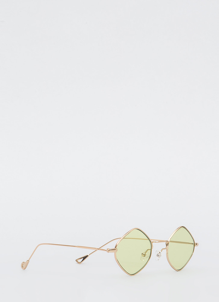 Girl's Best Friend Wire Rim Glasses LIME