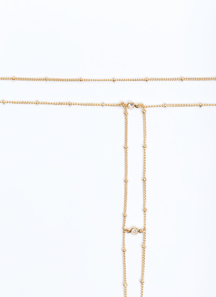 Drop Everything Layered Chain Necklace GOLD (You Saved $9)
