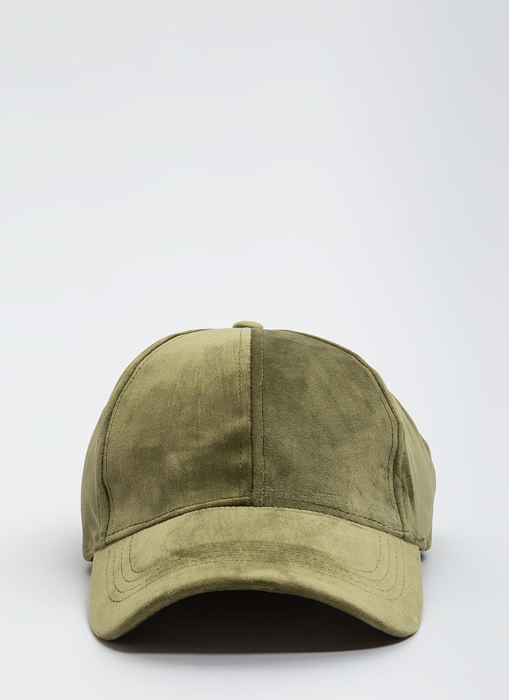 Plush Into Things Velvet Hat OLIVE